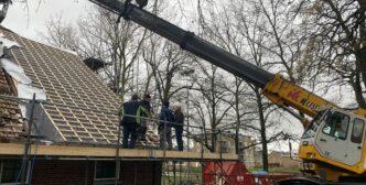 We zijn met het dak begonnen!